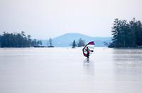 Ice Kiting on Lake Winnipesaukee at Center Harbor Bay.  Karen Bobotas for the Laconia Daily Sun