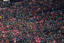 "29.01.2019, Planai, Schladming, AUT, FIS Weltcup Ski Alpin, Slalom, Herren, im Bild Fans // Fans during the men's Slalom ""the Nightrace"" of FIS ski alpine world cup at the Planai in Schladming, Austria on 2019/01/29. EXPA Pictures © 2019, PhotoCredit: EXPA/ Dominik Angerer"
