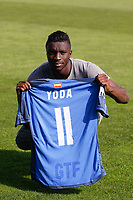 Karim Abdoul Yoda during his official presentation as a new Getafe´s player in Getafe, Spain. October 22, 2014. (ALTERPHOTOS/Victor Blanco)