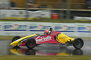 Auckland's Andre Heimgartner on his way to winning the Formula Ford round at the CRC 200 at Timaru International Motor Raceway on 22 January 2012. The CRC 200 is part of the New Zealand Premier Race Championship Series.