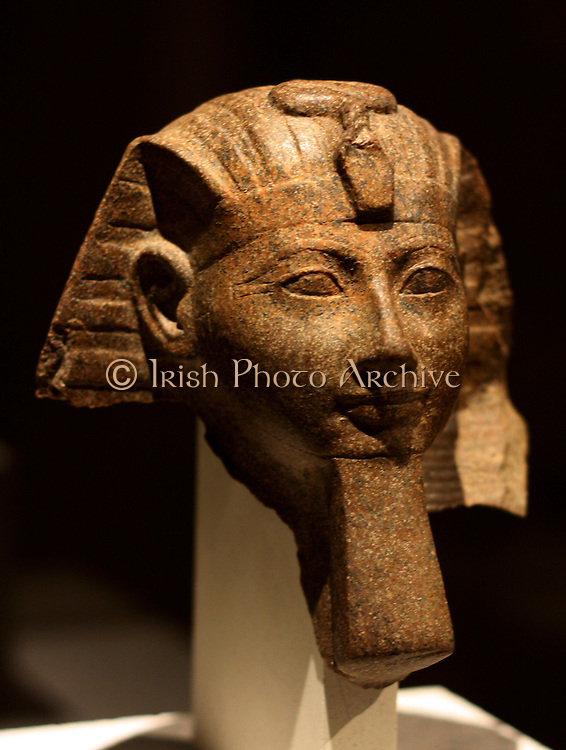 Head of a Statue of Queen Hatshepsut or of King Thutmose 111 18th Dynasty New museum, Berlin