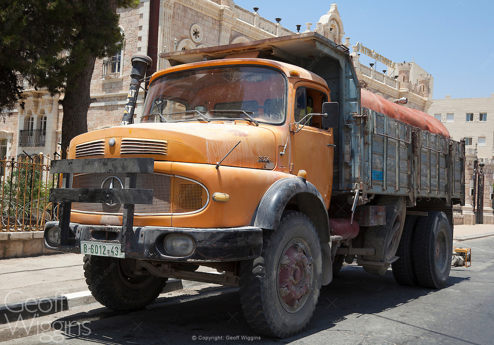 Vintage Palestinian Mercedes tipper truck, Bethlehem, Palestinian Territory Occupied