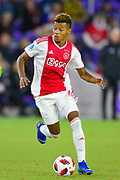 Ajax forward David Neres (7)  in action during a Florida Cup match against Flamengo at Orlando City Stadium on Jan. 10, 2019 in Orlando, Florida. <br /> Flamengo won in penalties 4-3.<br /> <br /> ©2019 Scott A. Miller