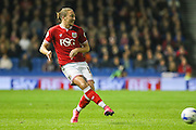 Bristol City defender Luke Ayling (5) passes the ball during the Sky Bet Championship match between Brighton and Hove Albion and Bristol City at the American Express Community Stadium, Brighton and Hove, England on 20 October 2015. Photo by Phil Duncan.