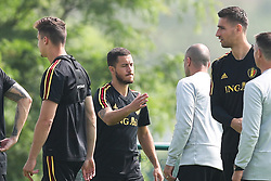 June 4, 2018 - Tubize, BELGIUM - Belgium's Eden Hazard and Belgium's goalkeeper Koen Casteels pictured during a training session of the Belgian national soccer team Red Devils, Monday 04 June 2018, in Tubize. The Red Devils started their preparations for the upcoming FIFA World Cup 2018 in Russia. BELGA PHOTO BRUNO FAHY (Credit Image: © Bruno Fahy/Belga via ZUMA Press)