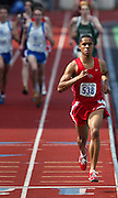 05/14/2009 - Lincoln's Nathan Mathabane (538) pulls away from the pack during the men's 1500 meter run. The 6A PIL Varsity District Track Meet takes place at Lewis and Clark College....KEYWORDS:  City, Portland, sports, high school, state, boys, girls
