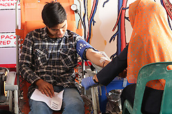 July 13, 2017 - Banda Aceh, Aceh, Indonesia - In order to commemorate the world blood donor day, various elements of society such as students, employees, private, laborers, donate blood in Blood Transfusion Unit, Indonesian Red Cross Banda Aceh City. (Credit Image: © Pacific Press via ZUMA Wire)