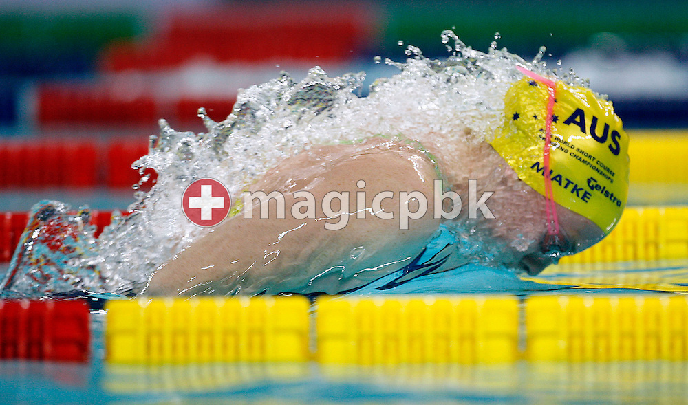 Danni MIATKE of Australia swims the Butterfly  leg of the women's 4x100m Medley Relay preliminary  heats during day three of the 8th FINA World Swimming Championships (25m) held at Qi Zhong Stadium April 7th, 2006 in Shanghai, China. (Photo by Patrick B. Kraemer / MAGICPBK)
