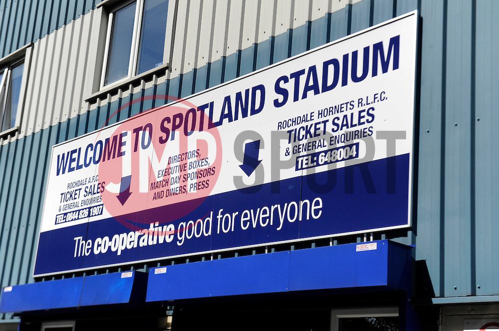 Rochdale, Spotland Stadium - Photo mandatory by-line: Dougie Allward/JMP - Mobile: 07966 386802 23/08/2014 - SPORT - FOOTBALL - Manchester - Spotland Stadium - Rochdale AFC v Bristol City - Sky Bet League One