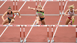 06-03-2015 CZE: European Athletics Indoor Championships, Prague<br /> Marina Tomic SLO, Eline Berings BEL, Karolina Kolezek POL