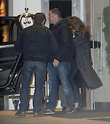 22.FEBRUARY.2012. LONDON<br /> <br /> VICTORIA BECKHAM ALONG WITH KIDS BROOKLYN, ROMEO, CRUZ AND BABY HARPER ENJOYING DINNER WITH VICTORIA'S SISTER LOUISE AND HER KIDS AT GORDON RAMSEY'S MAZE RESTAURANT IN MAYFAIR, BEFORE LEAVING AT 20:00PM<br /> <br /> BYLINE: EDBIMAGEARCHIVE.CO.UK<br /> <br /> *THIS IMAGE IS STRICTLY FOR UK NEWSPAPERS AND MAGAZINES ONLY*<br /> *FOR WORLD WIDE SALES AND WEB USE PLEASE CONTACT EDBIMAGEARCHIVE - 0208 954 5968*
