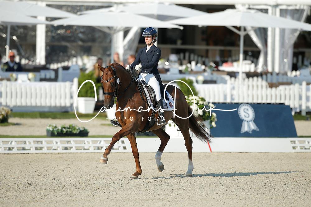 Gyllensw&auml;rd Josefin, (SWE), Don Angelo<br /> Grand Prix U25<br /> CDIO Hagen 2015<br /> &copy; Hippo Foto - Stefan Lafrentz