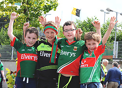 Young Mayo supporters from Bunniconlon Andrew Kelly, Mark Munnelly, Cian Hastings and Thomas Munnellly.<br />