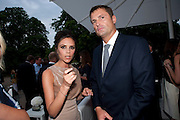 VICTORIA BECKHAM; PHIL POPHAM, Alexandra Shulman, Editor of Vogue & Phil Popham, Managing Director of Land Rover<br /> host the 40th Anniversary of Range Rover. The Orangery at Kensington Palace. London. 1 July 2010. -DO NOT ARCHIVE-© Copyright Photograph by Dafydd Jones. 248 Clapham Rd. London SW9 0PZ. Tel 0207 820 0771. www.dafjones.com.
