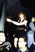 Lesley at a rave in Slough Centre, UK. 1989.