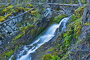 Waterfall on trail along Upper Kananaskis Lake<br />