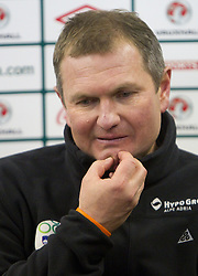 Head coach of Slovenia Matjaz Kek at press conference after the EURO 2012 Quaifications game between National teams of Slovenia and Northern Ireland, on March 29, 2011, in Windsor Park Stadium, Belfast, Northern Ireland, United Kingdom. (Photo by Vid Ponikvar / Sportida)