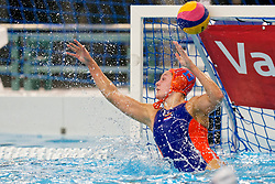 Sarah Buis #13 of Netherlands in action during the friendly match Netherlands vs USA on February 19, 2020 in Amerena Amersfoort.