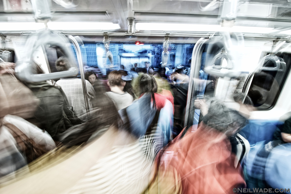 Getting on and off trains can be crazy at rush hour, but most people are very polite and do their best to stay out of the way.