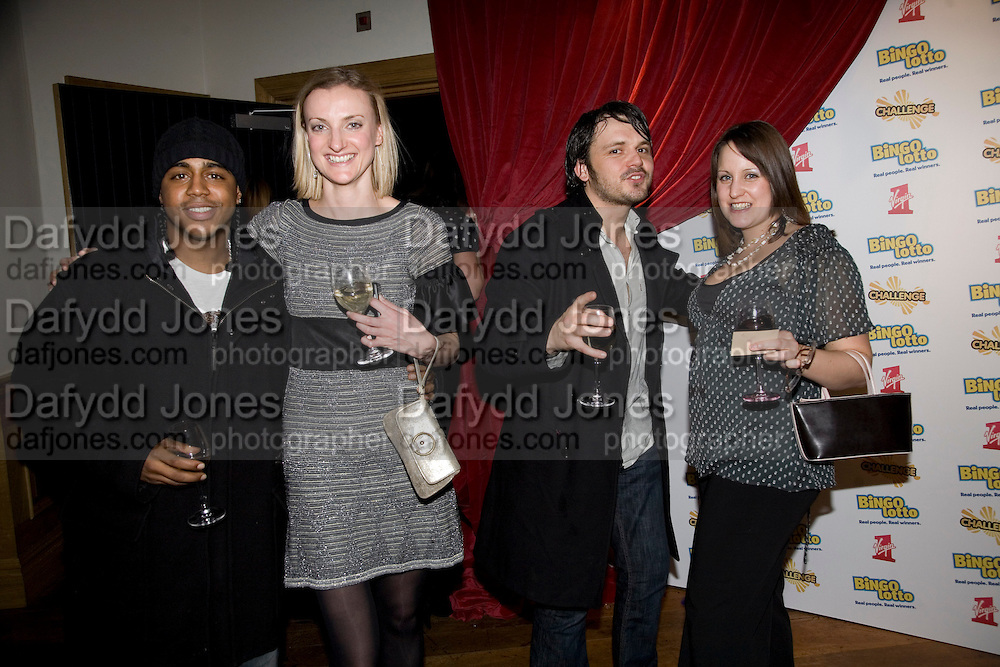 BRADLEY MCINTOSH , CLAIRE MCDOWELL,  KAREN THOMAS AND PAUL CUTTERMOLE, Bingo Lotto launch party. Soho Hotel Richmond Mews. London. 29 February 2008.  *** Local Caption *** -DO NOT ARCHIVE-© Copyright Photograph by Dafydd Jones. 248 Clapham Rd. London SW9 0PZ. Tel 0207 820 0771. www.dafjones.com.