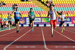 From left to right Yaroslav Okapinski, UKR, Paul Keogan, IRE, Michal Kotkowski, POL, Renaud Clerc, FRA competing in the T37, 400m at the Berlin 2018 World Para Athletics European Championships