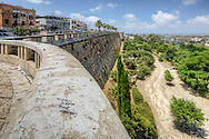 Photo of the ancient city wall in Alcamo, Sicily, Italy