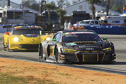 March 14, 2019 - Sebring, Etats Unis - 19 MOORESPEED (USA) AUDI R8 LMS GT3 GTD ANDREW DAVIS (USA) ALEX RIBERAS (ESP) WILL HARDEMAN  (Credit Image: © Panoramic via ZUMA Press)