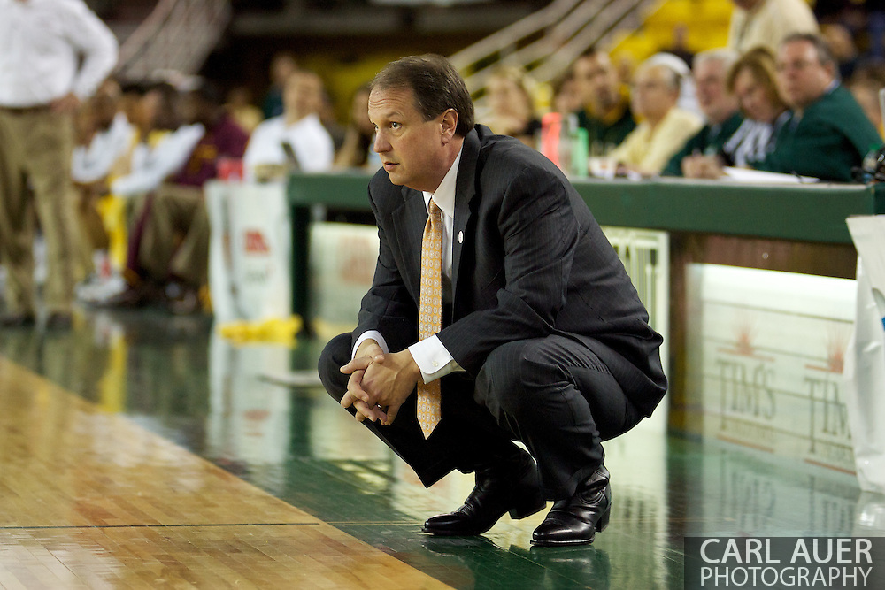 November 25th, 2010:  Anchorage, Alaska - Houston Baptist head coach Ron Cottrell in the Huskies 55-73 loss to the Arizona State Sun Devils at the Great Alaska Shootout.