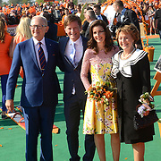 Koningsdag 2014 in de Rijp, het vieren van de verjaardag van de koning. / Kingsday 2014 in the Rijp , celebrating the birthday of the King. <br /> <br /> <br /> Op de foto / On the photo:   Princess Margiet and Pieter van Vollenhoven<br /> Prince Pieter-Christiaan and Princess Anita