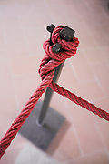 red rope inside a museum