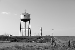 Britten water tower in McClean, Texas on Route 66