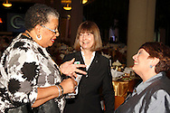 (from left) Bonnie Smith of PACE, Jill Moberley of the Dayton Public Schools and Linda Kahn of The Ohlmann Group during the Better Business Bureau's Eclipse Integrity Awards dinner at the Ponitz Center at Sinclair Community College in downtown Dayton, Tuesday, May 8, 2012.