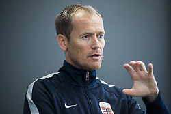 August 31, 2017 - Oslo, NORWAY - 170831 Communications director of the Norwegian Football Association (NFF) Svein Graff speaks during a press conference regarding football player Ada Hegerberg (not pictured) taking a break from the national team on August 31, 2017 in Oslo..Photo: Jon Olav Nesvold / BILDBYRN / kod JE / 160000 (Credit Image: © Jon Olav Nesvold/Bildbyran via ZUMA Wire)