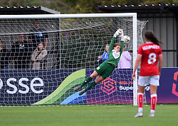 Sophie Baggaley of Bristol City is defeated by a shot from Caroline Weir of Manchester City Women - Mandatory by-line: Paul Knight/JMP - 16/09/2018 - FOOTBALL - Stoke Gifford Stadium - Bristol, England - Bristol City Women v Manchester City Women - Continental Tyres Cup