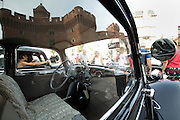detail of a A Classic Citroen Traction 11 BL car