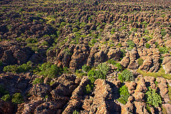 Ariel view of the Devonian Reef near Geikie Gorge in the Kimberley region of Western Australia.
