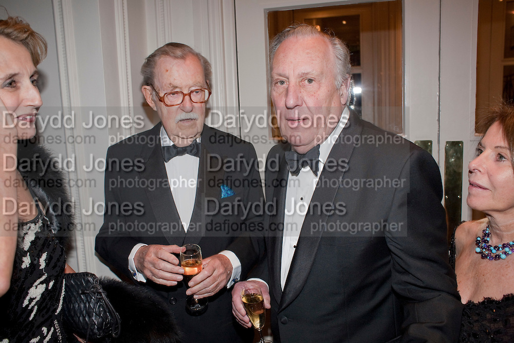 SIR ALAN WHICKER; SIR FREDERICK FORSYTH, 80th anniversary gala dinner for the FoylesÕ Literary Lunch. Ballroom. Grosvenor House Hotel. Park Lane. London. 21 October 2010. -DO NOT ARCHIVE-© Copyright Photograph by Dafydd Jones. 248 Clapham Rd. London SW9 0PZ. Tel 0207 820 0771. www.dafjones.com.<br /> SIR ALAN WHICKER; SIR FREDERICK FORSYTH, 80th anniversary gala dinner for the Foyles' Literary Lunch. Ballroom. Grosvenor House Hotel. Park Lane. London. 21 October 2010. -DO NOT ARCHIVE-© Copyright Photograph by Dafydd Jones. 248 Clapham Rd. London SW9 0PZ. Tel 0207 820 0771. www.dafjones.com.