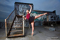 New York City Rooftop Tower with Ballerina Melanie Olinsky. Dance As Art- The New York Photography Project
