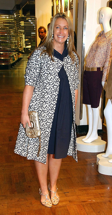 ANYA HINDMARCH at a party hosted by Elizabeth Saltzman and Harvey Nichols to celebrate the UK launch of New York fashion designer Tory Burch held at the Fifth Floor Restaurant, Harvey Nichols, Knightsbridge, London on 24th May 2006.<br />