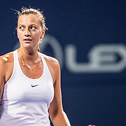 August 22, 2016, New Haven, Connecticut: <br /> Petra Kvitova of the Czech Republic reacts after defeating Louisa Chirico of the United States during a match a match on Day 4 of the 2016 Connecticut Open at the Yale University Tennis Center on Monday August  22, 2016 in New Haven, Connecticut. <br /> (Photo by Billie Weiss/Connecticut Open)