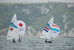 2012 Olympic Games London / Weymouth<br /> 470 Training race<br /> Harada Ryunosuke, Yoshida Yuugo, (JPN, 470 Men)<br /> Coster Kalle, Coster Sven, (NED, 470 Men)