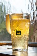 Glas Apfelwein, Treuschs im Schwanen, Reichelsheim, Odenwald, Hessen, Deutschland
