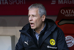 06.04.2019, Allianz Arena, Muenchen, GER, 1. FBL, FC Bayern Muenchen vs Borussia Dortmund, 28. Runde, im Bild Lucien Favre Cheftrainer Borussia Dortmund // during the German Bundesliga 28th round match between FC Bayern Muenchen and Borussia Dortmund at the Allianz Arena in Muenchen, Germany on 2019/04/06. EXPA Pictures © 2019, PhotoCredit: EXPA/ SM<br /> <br /> *****ATTENTION - OUT of GER*****
