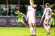 Forest Green Rovers Darren Carter(12) and celebrates, 0-1 during the FA Trophy match between Truro City and Forest Green Rovers at Treyew Road, Truro, United Kingdom on 13 December 2016. Photo by Shane Healey.