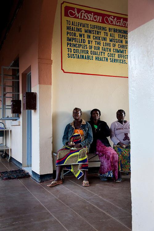 Pregnant women. Chikuni Mission Hospital, Zambia.
