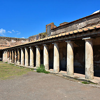 Palaestra at Stabian Baths in Pompeii, Italy<br />