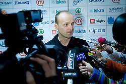 Jure Zdovc at press conference when announced that he is a new Slovenian Head coach of Basketball National team, on November 25, 2008 in City Hotel, Ljubljana, Slovenia.  (Photo by Vid Ponikvar / Sportida)