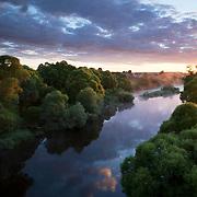 4am sunrise over river Protva, Kaluga Region, Russia.