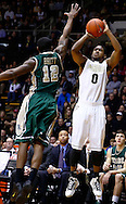 WEST LAFAYETTE, IN - DECEMBER 29: Terone Johnson #0 of the Purdue Boilermakers shoots against Brandon Britt #12 of the William & Mary Tribe at Mackey Arena on December 29, 2012 in West Lafayette, Indiana. Purdue defeated William & Mary 73-66. (Photo by Michael Hickey/Getty Images) *** Local Caption *** Terone Johnson; Brandon Britt