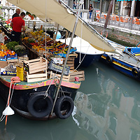 Foods, shops and markets in Venice, Italy